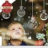 Heekpek® Pegatinas de Navidad para Cristales Navidad Extraíble Casa Vinilo Ventana Pared Pegatinas Decoración