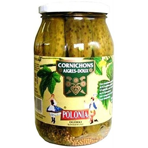 Polonia cornichons aigre doux 490g - ( Prix Unitaire ) - Envoi Rapide Et Soignée
