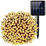 Criacr Solar Lights Outdoor, (200 LED 8 Modes) Solar String LIghts, 72ft/22m Solar Garden Lights, Auto on off, Waterproof Copper Wire Solar Lights for Patio, Home, Yard, Pathway, Party (Warm White)