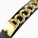 ★, 24 k vergoldet, 30 mm breit, ★ 247 g Massive Edelstahl Armband für den Hochwertige Herren-Chirurgenstahl-schwer Gewicht Bling Schmuck-Hip Hop goth