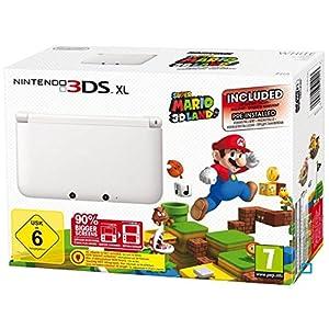 Nintendo 3DS XL – Konsole, weiß + Super Mario 3D Land (vorinstalliert) – Limitierte Edition