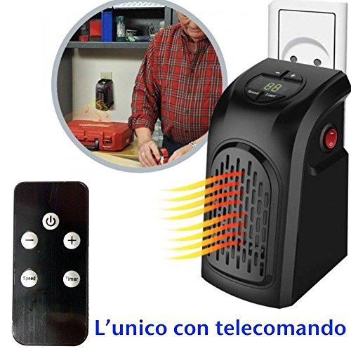 Dobo® Mini Estufa portátil de casa Ventilador toma eléctrica ajustable Distancia 400W Calefactor...