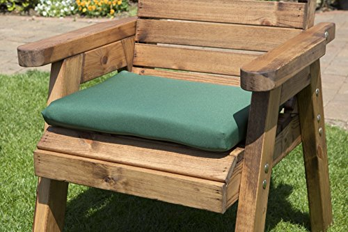 UKG Garden Furniture Cushions - Green Waterproof Seat Pad Chair Cushion L50xW40xD5cm