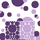 Dark & Light Purple Polka Dot Decals for...