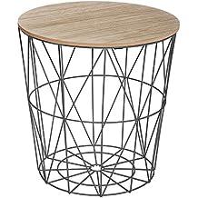 Amazonfr Table Basse Bois Et Fer Forgé
