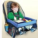WDXIN Kinder Play Tray Spiel Wasserdicht Sicher und bequem Einfache Installation Vier Jahreszeiten universell Geeignet für Autositze, Kinderwagen,Blue