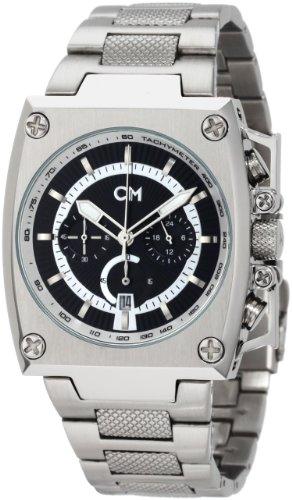 Carlo Monti - CM101-121 - Montre Homme - Quartz - Analogique - Chronomètre - Bracelet Acier inoxydable Argent