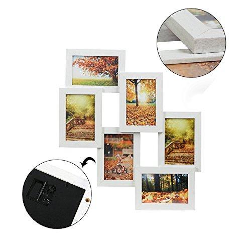 Songmics cornice multifoto da parete con 6 posti di foto e - Cornici portafoto da parete ...