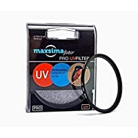 Maxsimafoto - Filtro UV para Objetivo 40.5mm / Protector para Objetivo Sony Alpha A5000 A6000 Cámara Digital con Power Zoom 16-50mm