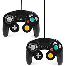 2x QUMOX Contrôleur classique filaire noir joypad gamepad pour Nintendo GameCube GC & Wii ( fonction lente turbo )