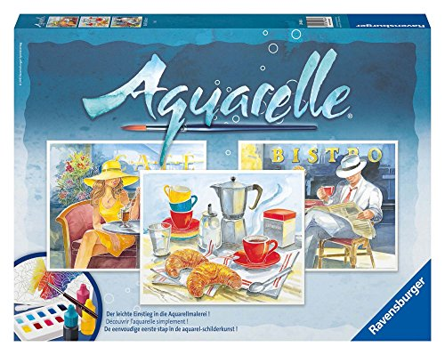 Ravensburger 29466 - Café - Aquarelle Maxi, 30 x 24 cm