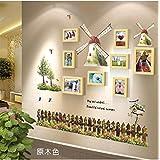 Galleria fotografica X&L Mediterraneo orientale-stile mulino a vento 5 pollici 7 pollici foto telaio parete camera da letto tinta legno...