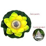 Xshuai Heißer Verkauf 1 PC Solar im Freien wasserdichte sich hin- und herbewegende Lotus-Licht-Pool-Teich-Garten-Wasser-Blume LED-Lampe (28 cm lila / weiß / gelb / rosa) (gelb)