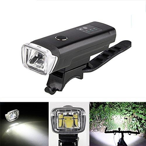 OUTERDO 600 Lumen LED Fahrradbeleuchtung wiederaufladbares Alulegierung-Fahrrad Frontlicht IPX4 wasserdicht Scheinwerfer leicht zu installieren und demontieren Schwarz (Beleuchtung Slide)