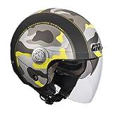 Givi HPS 10.8F Urban-Jet-Helm, Grafik Camouflage, M2