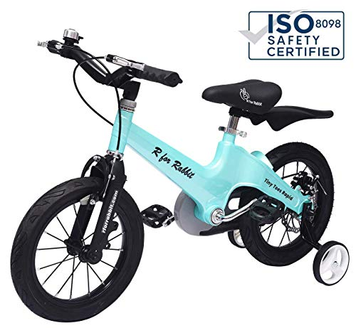 R for Rabbit Tiny Toes Rapid Cycle for Kids - Smart Plug and Play Kids Bicycle -14 inch for 3 Years to 5 Years Baby