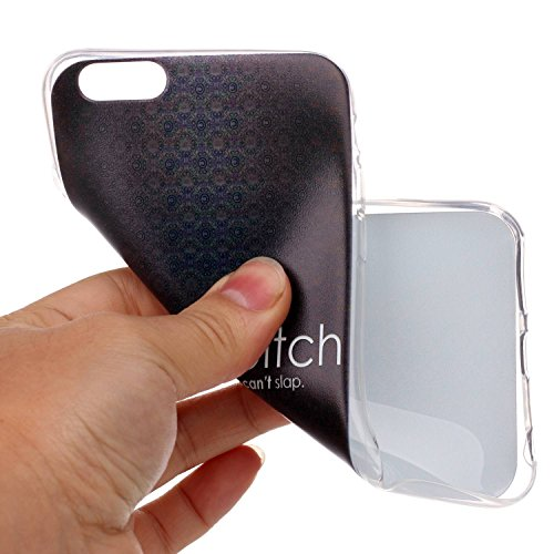 Qiaogle Telefon Case - Weiche TPU Case Silikon Schutzhülle Cover für Apple iPhone 6 / iPhone 6S (4.7 Zoll) - LF08 / Fuck You LF02 / life is a bitch