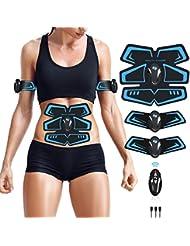 ZHENROG Electroestimulador Muscular Abdominales Cinturón,Masajeador Eléctrico Cinturón con USB,EMS Ejercitador del Cuerpo
