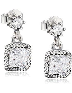 Pandora Damen-Ohrhänger Zeitlose Eleganz 925 Silber Zirkonia weiß - 290593CZ