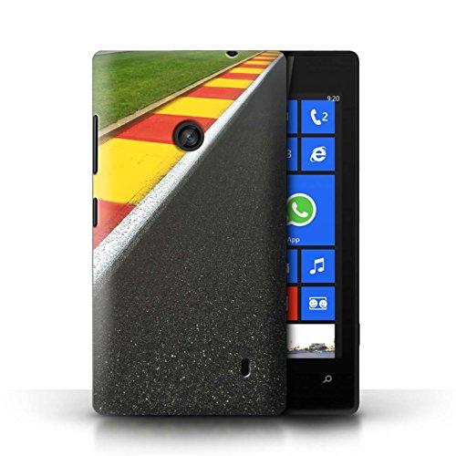 Stuff4® Hülle/Case für Nokia Lumia 520 / Apex/Schikane Muster/Rennstrecke Foto Kollektion
