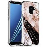 CLM-Tech Galaxy A8 2018 Hülle, TPU Silikon-Hülle Case Marmor Mehrfarbig Schutzhülle für Galaxy A8 Handyhülle