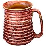 Amber Shine Ceramic Beer Mug/Milkshakes Mug/Lassi Mug/Handmade And Handcrafted Studio Pottery/Stoneware/Tableware/Glazed And Glossy