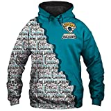 HS-WY01 Pull De Football Américain Hommes Jersey Rugby Jacksonville Jaguars Sport Hooded Casual Manches Longues Impression 3D,2XLBUST142
