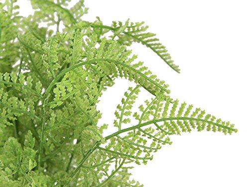 artplants Kunst Waldfarn ELIZABETTE im Topf, hellgrün, 25 cm – künstlicher Farn/Deko Farnpflanze