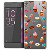 Caseink - Coque Housse Etui pour Sony Xperia XA [Crystal HD Collection Foodie Design Donuts - Rigide - Ultra Fin - Imprimé en France]