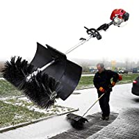 YIYIBY Side Sweeper 52cc Broom Snowmaker Gasoline Engine Brush Sweeper Snow Shovel Power Sweeper Engine
