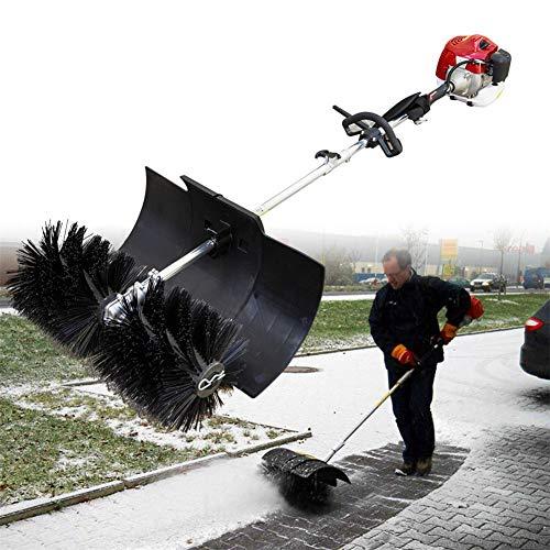YIYIBY Seitliche Kehrmaschine 52CC Besen SchneefräSe Benzin Motorbesen Kehrmaschine Schneeschieber Power Sweeper Motor