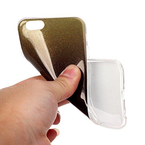 """Coque iPhone 6s, SsHhUu Ultra Mince Bling Flexible Caoutchouc Doux TPU Skin Case Bumper Silicone Gel Anti-Scratch Cover pour Apple iPhone 6 / 6s (4.7"""") Bleu Ciel Café"""