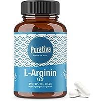 Preisvergleich für L-Arginin Base 3500, hochdosiert (150 Kapseln) - Arginin Base ist Arginin HCL überlegen (besserer pH Wert) - keine...