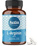 L-arginina de base 3500, una dosis alta (150 cápsulas) - arginina base es (mejor valor de pH) arginina HCL superior - sin aditivos - arginina más pura de la fermentación planta