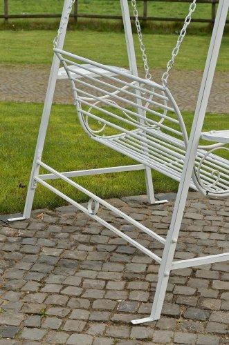 CLP 2 Sitzer / 3 Sitzer Garten Hollywoodschaukel AIMEE, Landhaus-Stil, Metall (Eisen) antik-weiß - 5