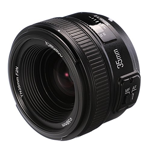 Yongnuo 35mm F2.0Objectif Grande Ouverture Auto Focus objectifs AF pour Nikon appareils Photo Reflex numériques