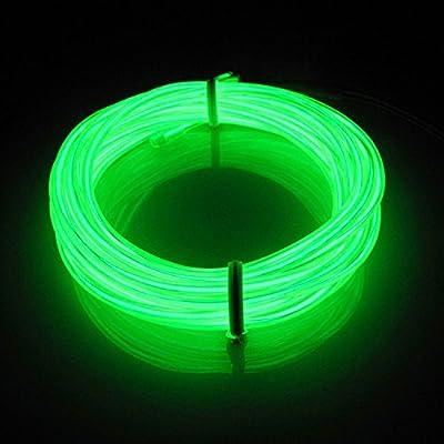 Lerway 5M Bunte Luminous EL Elektrolumineszenzdraht LED-Licht Glowing Beleuchtung Flexible Lampe + Controller-Box, für Schlafzimmer-Dekoration Home Kitchen Garden, Kaffee Restaurant, Party Bar Club