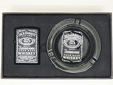 Brand New Jack Daniels Petrol Lighter and Ashtray Gift