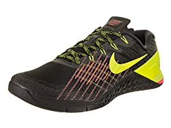 Nike Men's Metcon 3 Blackvolthypercrimson Training Shoe 11 Men Us