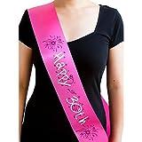 Schärpe Braut Security Hochzeit Geburtstag 18 – wählbar (Happy 30th Rosa/Pink)
