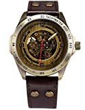 AMPM24-Vintage-Bronze-Case-Automatic-Mechanical-Skeleton-Brown-Leather-Band-Mens-Sport-Watch-AMPM24-Gift-Box-PMW368