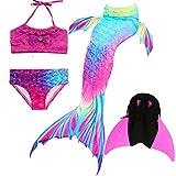 Das beste Mädchen Bikini Badeanzüge Schönere Meerjungfrauenschwanz Zum Schwimmen mit Meerjungfrau Flosse Schwimmen Kostüm Schwanzflosse - Ein Mädchentraum- Gr. 140, Farbe: A02