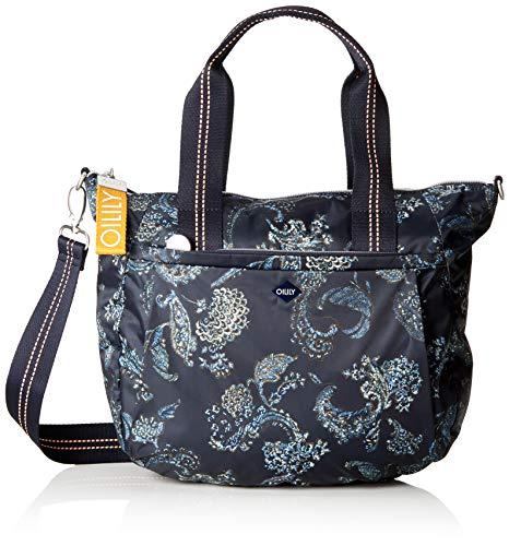 Oilily Damen Groovy Handbag Mhz Henkeltasche, Blau (Dark Blue), 15x25x33 cm