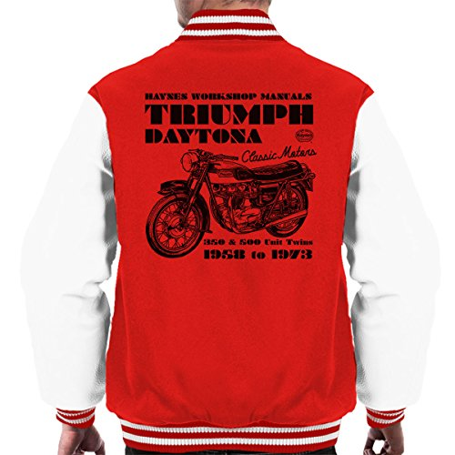 Haynes Owners Workshop Manual Triumph Daytona 350 500 Men's Varsity Jacket - 500 Spiel Daytona