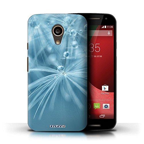 Kobalt® Imprimé Etui / Coque pour Motorola Moto G (2014) / Fleur Bleu conception / Série Gouttes de Fées Fleur Bleu