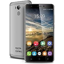 """Oukitel U15 Pro - 32GB Smartphone libre Android 6.0 (Pantalla 5.5"""", 4G LTE, 3GB RAM, Octa-Core, 13MP Cámara, Lector de huellas dactilares, OTG, HotKnot), Gris"""