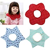 IDream Round Neck 360 Degree Cotton Baby Bibs - Pack Of 3 (Red, Blue & Green)