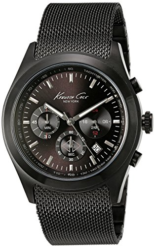 kenneth-cole-kc9183-mens-quartz-analog-watch-with-stainless-steel-strap-black-certified-refurbished