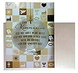 Glückwunschkarte Zur Kommunion Karte Geldgeschenk Grußkarte (gold/weiß (04))