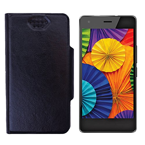 Shopme Flip cover for Intex Aqua Ace (Black Color)(PU Leather, Access to all Ports, complete mobile Protection,Extremely durable)